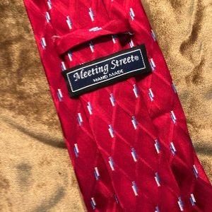 Meeting Street Accessories - Meeting Street 100% Silk Red Standard Tie.